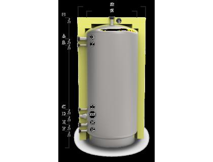 Отопительный аккумуляторный бак ЕАМ-00 1500л - без изоляции Kuydych