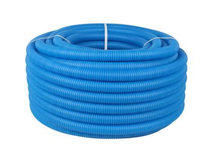 Труба гофрированная 33мм синяя (20м)