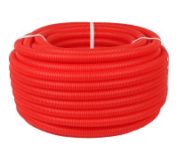 Труба гофрированная 18мм красная (50м)