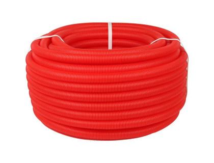 Труба гофрированная 29мм красная (25м)