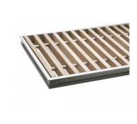 Комплект S 300/2400 (рамка ZN + деревяная решетка) Сатин