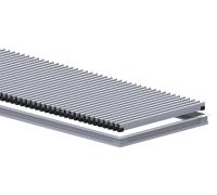 Комплект S 380/2500 (рамка ZN + решетка НТ) Сатин