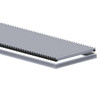 Комплект S 230/1000 (рамка ZN + решетка алюминиевая НТ) Сатин