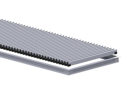 Комплект S 300/5000 ( рамка ZL + решетка НТ) Сатин Carrera