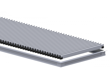 Комплект S 230/3000 (рамка ZN + решетка алюминиевая НТ) Сатин Carrera