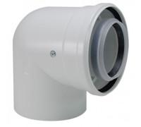 Коаксиальный отвод 90, 80/125 мм