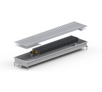 Конвектор внутрипольный M-(Inox) 230/596*1463*596/90 угловой Сатин