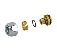 Адаптер для металопластикових труб 16 х16 / 2 Хром