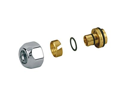 Перехідник хромований для металопластикових труб Giacomini