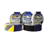 Лента безопасности SAFETY GRIP 25мм х 18м, полупрозрачная (картон)