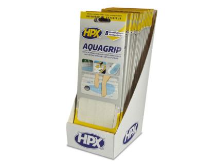 Лента безопасности AQUA GRIP 20мм х 240мм х 8шт, прозрачная (блистер) HPX