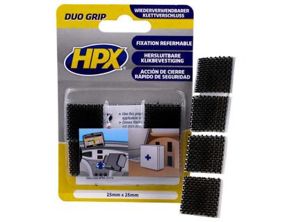 Лента застежка DUO GRIP 25мм, черная HPX