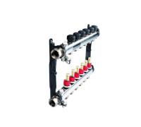 TECEfloor SLQ Коллектор стальной с расходометрами для поверхностного отопления в сборе