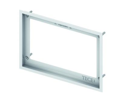 Монтажная рамка для установки стеклянных панелей TECEloop Urinal на уровне стены, белая TECE