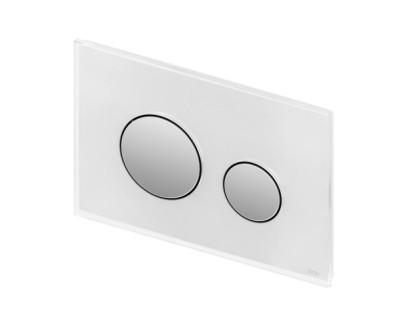 TECEloop, панель смыва с двумя клавишами стеклянная стекло черное, клавиша хром матовый TECE