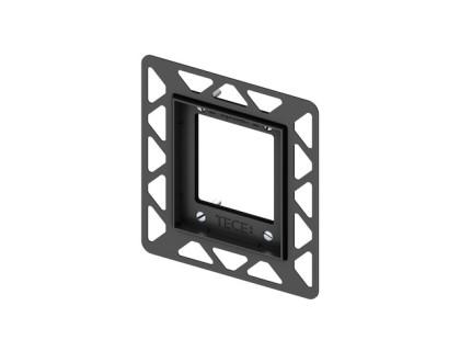 Монтажная рамка для установки стеклянных панелей TECEloop Urinal на уровне стены, черная TECE