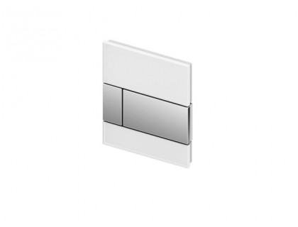 TECEsquare Urinal, панель смыва для писсуара стеклянная, стекло черное, клавиша нержавеющая сталь, сатин TECE