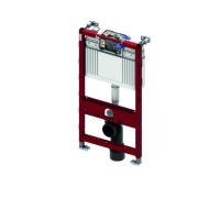 Застенный модуль (h = 820 мм) для установки подвесного унитаза, фронтальное расположение панели смыва