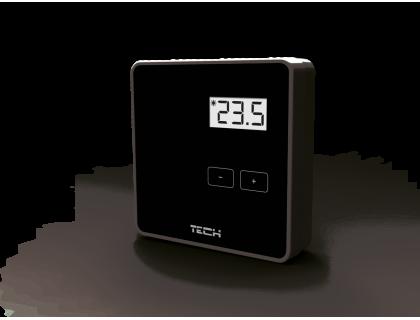 Термостат комнатный беспроводной R-8b черный TECH
