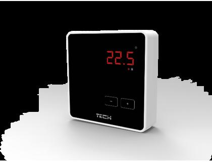Термостат комнатный беспроводной R-8z черный TECH
