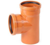 Тройник канализационный наружный  87° 110-110 мм