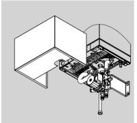 Комплект для монтажа под котлом с термостатическим смесителем