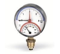 Термоманометр радиальный F+R 828 80 (0 - 120°С / 10 бар)